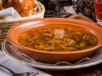 Суп грибной с домашней лапшой